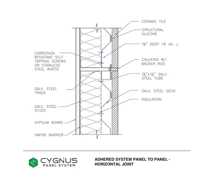 Adhered System Panel to Panel - Horizontal Joint